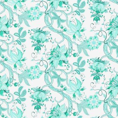 Papiers peints Motif Katherine Seamless Floral