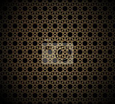 Motif Or Abstrait Geometrique De Lornement Islamique Arabesque
