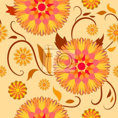 motif semaless de fleurs décoratives