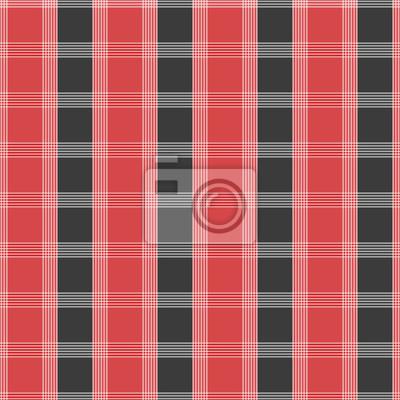 Motif Tartan Sans Couture Tissu Kilt Rouge Et Gris Texture Papier