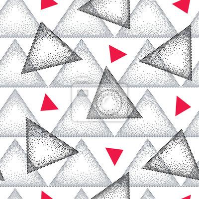 Papiers Peints Motif Transparent Avec Triangle Pointillé En Noir, Gris Et  Rouge Sur Le Fond
