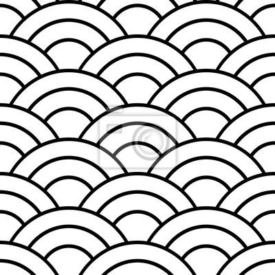 Motif Transparent Japonais Noir Et Blanc Papier Peint Papiers