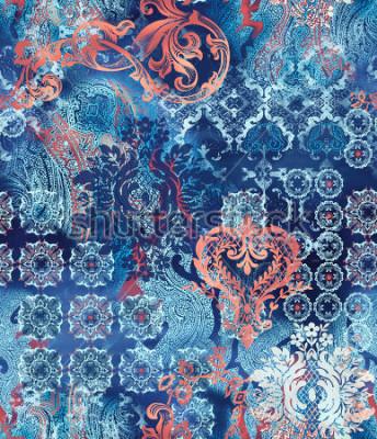 Papiers peints motifs géométriques ethniques sur fond abstrait