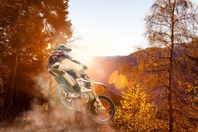 Papiers peints motocross au coucher du soleil