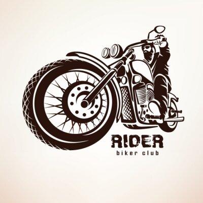 Papiers peints Motocycliste, moto, grunge, vecteur, silhouette