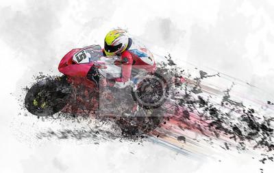 motorcycle motor sport abstract racing rendering sketch