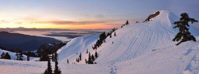 Papiers peints Mt. Seymour, premier, pomme, pic, hiver, Lever soleil, Vancouve
