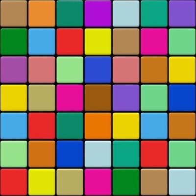 Papiers peints Multicolore Carrelage 01:03