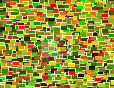 Multicolore Geometrique Rectangle Mosaique Scattered Pattern Papier Peint Papiers Peints Polygonale Jonche Multicolore Myloview Fr