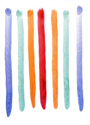 Papiers peints Multicolores rayures aquarelle