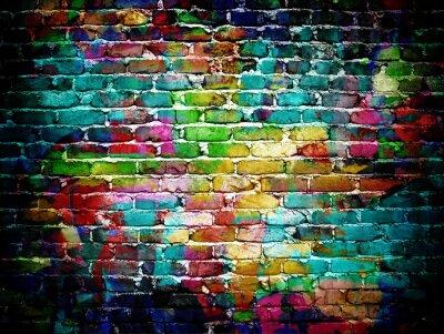 Papiers peints mur de briques de graffiti