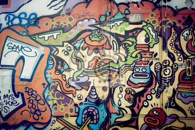 Papiers peints Mur de graf Coloré