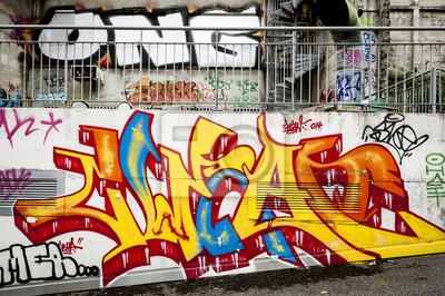 Papiers peints mur Fond de graffitis