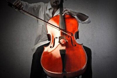 Papiers peints Musicien, jouer, violoncelle
