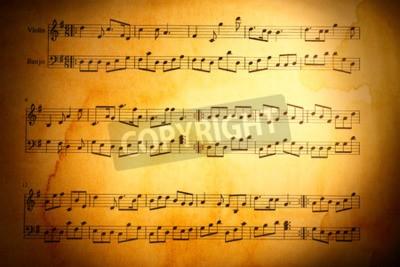 Papiers peints Musique, notes, fond