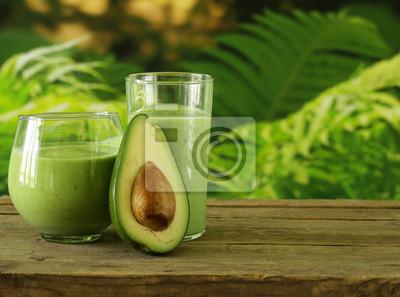 Natural smoothie boissons à l'avocat et yogourt