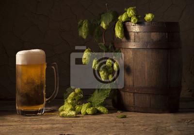 Nature morte avec un fût de bière