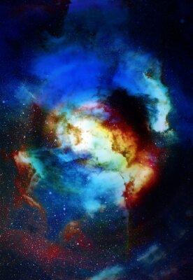 Papiers peints Nébuleuse, espace, étoiles, bleu, cosmique, résumé, fond Éléments de cette image fournis par la NASA.