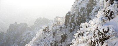 Papiers peints Neige, scène, Huangshan, colline, hiver