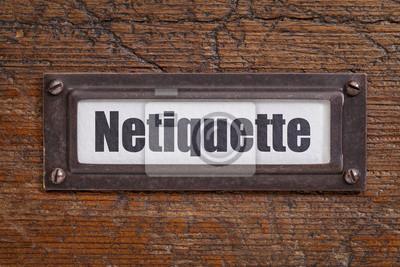 Papiers peints netiqutte (internet etiquette)  label