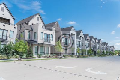 Papiers peints New development three story single family houses near Dallas, Texas