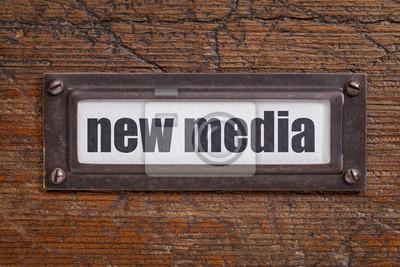 Papiers peints new media file cabinet   label