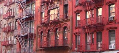 Papiers peints New York City / Escalier de secours