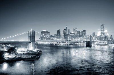 Papiers peints New York City Manhattan centre-ville en noir et blanc