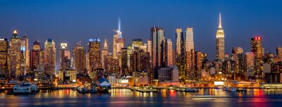 Papiers peints New York City Manhattan midtown buildings skyline night