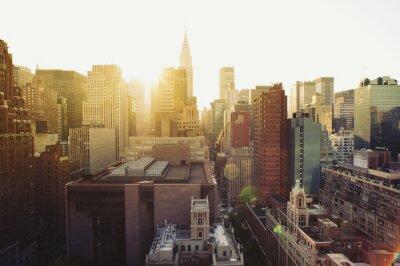 Papiers peints New York City Manhattan voir au soleil.
