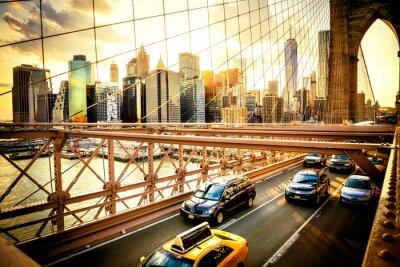Papiers peints New York City, Pont de Brooklyn horizon