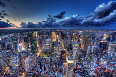 Papiers peints New York par nuit.