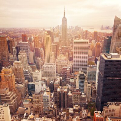 Papiers peints New York, ville, ciel, retro, filtre, effet, USA