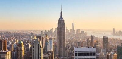 Papiers peints New York, ville, Manhattan, Horizon, Coucher soleil.