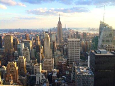 Papiers peints New York vista al tramonto da top of the rock