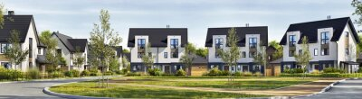 Papiers peints Newly built homes in a residential estate