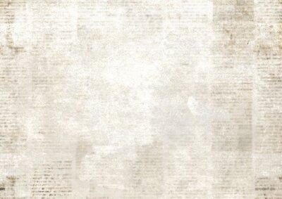 Papiers peints Newspaper with old grunge vintage unreadable paper texture background