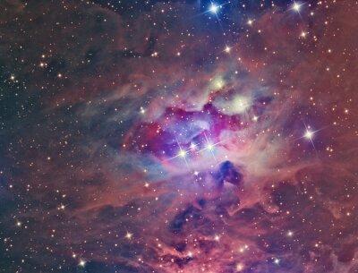 Papiers peints NGC 1973 Running Man Nébuleuse imagée avec un télescope et une caméra scientifique CCD