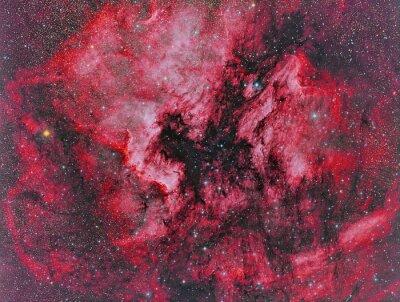 Papiers peints NGC 7000 Amérique du Nord Nébuleuse imagée avec un télescope et une caméra CCD scientifique