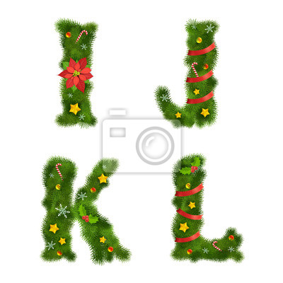 Alphabet Joyeux Noel.Papiers Peints Noel Alphabet Vecteur Illustration Eps10