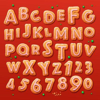 Papiers peints Noël biscuits au gingembre alphabet et les chiffres