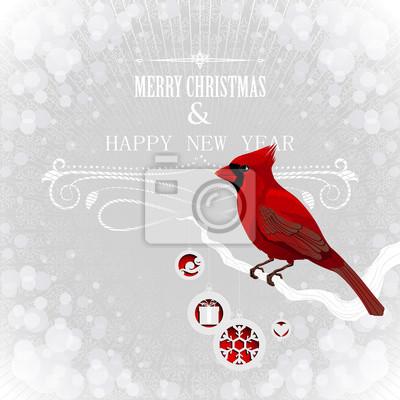 Noël carte esprit cardinal