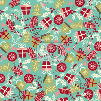 Noël et le motif du Nouvel An. Vacances d'hiver. Illustration vectorielle