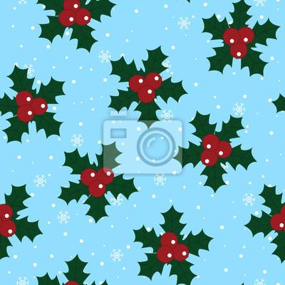 Joyeux Noel Et Nouvel An.Papiers Peints Noel Rouge Holly Berry Vert Feuilles Joyeux Noel Nouvel An Hiver