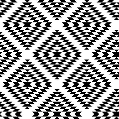 Papiers Peints Noir, Blanc, Aztèque, Ornements, Géométrique, Ethnique,  Seamless,