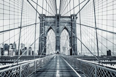 Papiers peints Noir, blanc, brooklyn, pont