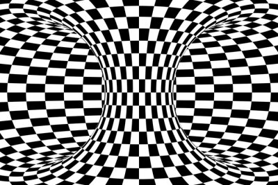 Papiers peints Noir, blanc, Checkered, Torus, résumé, fond