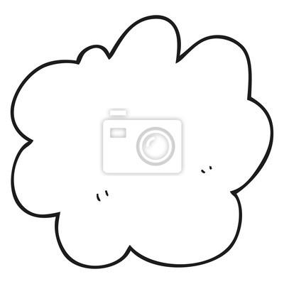 Papiers Peints Noir Blanc Dessin Animé Décoratif Nuage élément