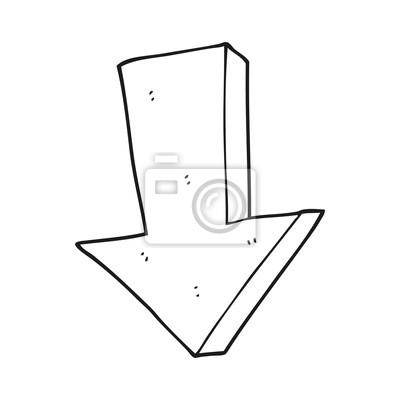 Dessin De Fleche noir, blanc, dessin animé, flèche, pointage, bas papier peint