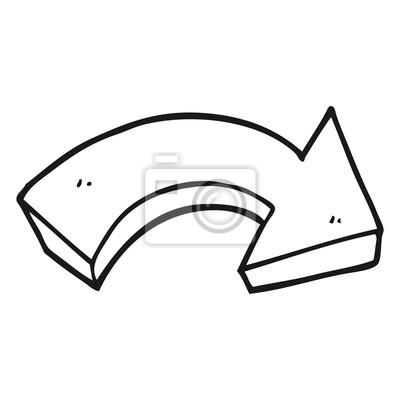 Dessin De Fleche noir, blanc, dessin animé, pointage, flèche papier peint • papiers